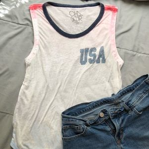 U.S.A. red white and blue tank